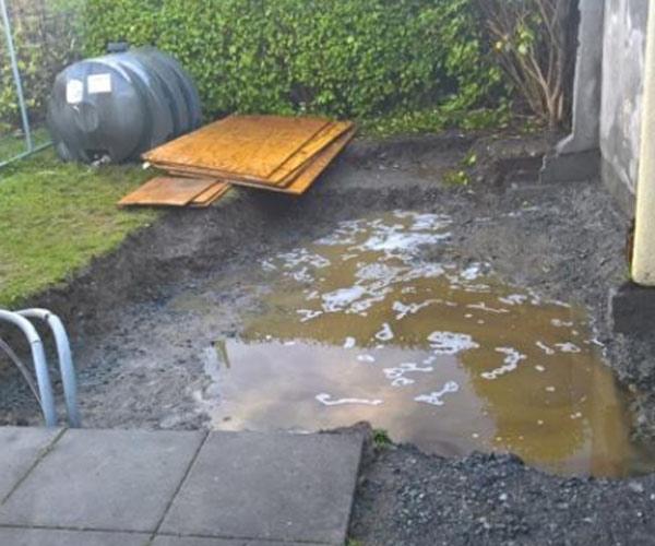 Oil spill garden ireland